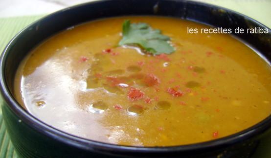 soupe aux pois secs