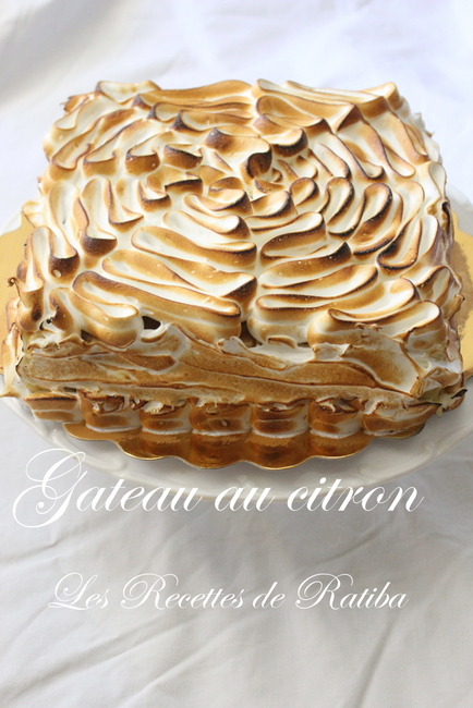 Gateau meringue paris 16