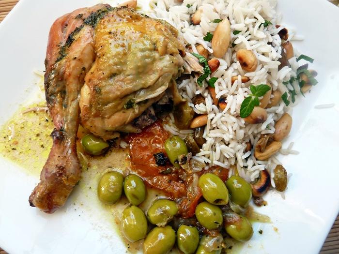 poulet au four recette marocaine