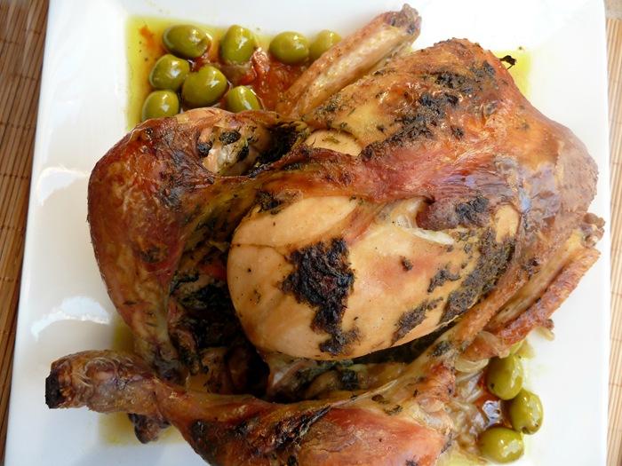 poulet rotis recette marocaine