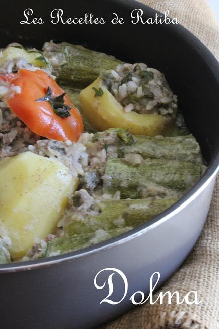 dolma courgettes et pommes de terre farcies , cuisine algérienne