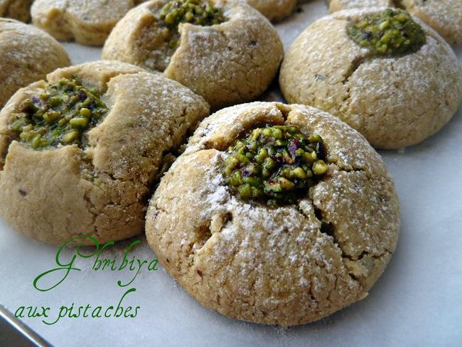 recette ghribiya aux pistaches gateaux algériens
