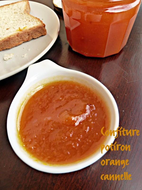 confiture de citrouille cannelle orange