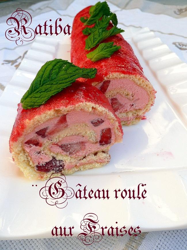 gateau roulé aux fraises 1