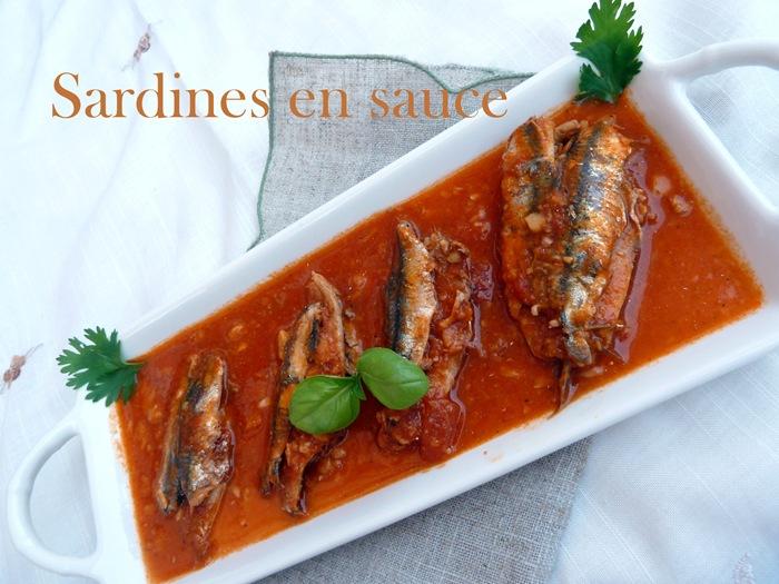 recettes sardine en sauce