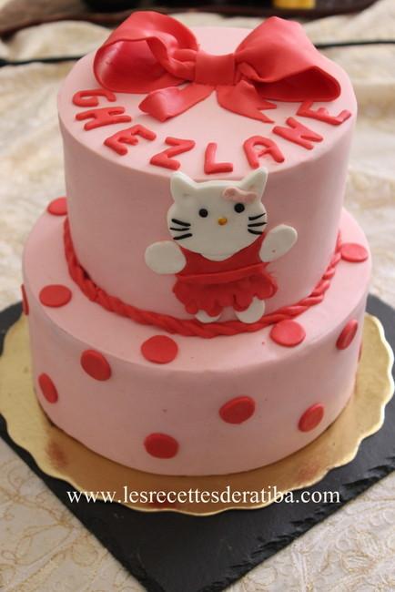 Gâteau Danniversaire En Pâte A Sucre