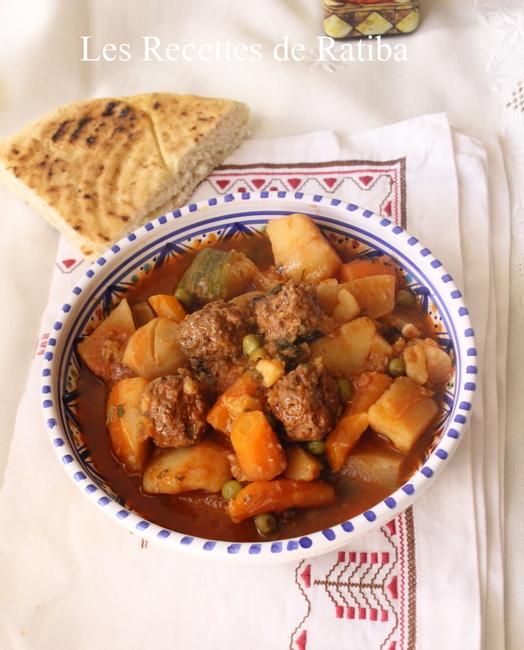 TAJINE de légumes et boulettes de keftas